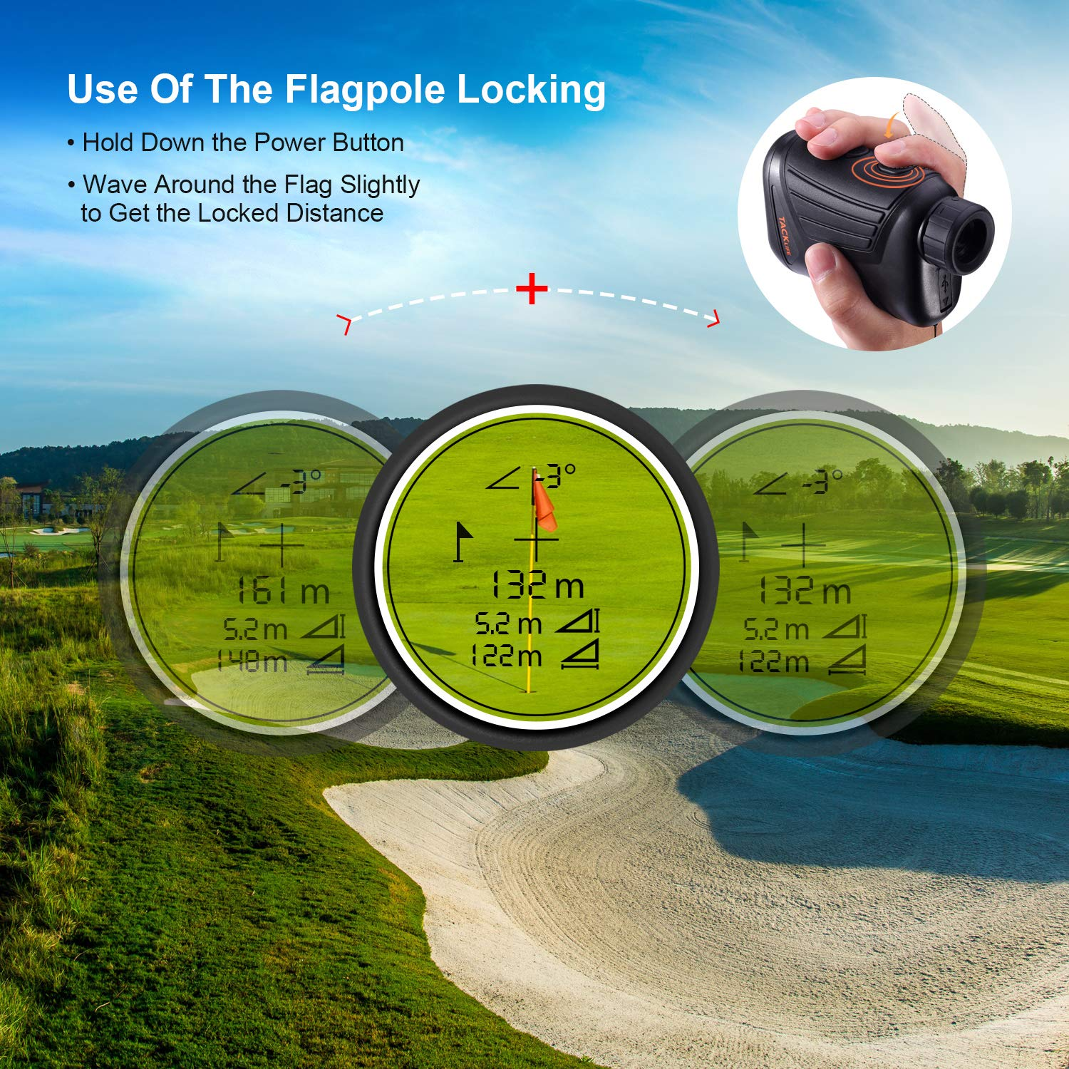 Tacklife rangefinder falgpole locking